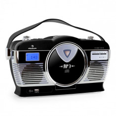 Auna Radio portabil Retro Vintage RCD-70 culoare neagră