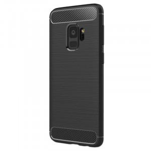 Husa SAMSUNG Galaxy S9 - Luxury Carbon TSS, Negru