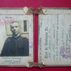 Bilet de identitate Regimentul 23 Infanterie 1935