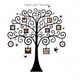 Sticker decorativ, Copac cu 8 rame foto 156 cm, 149STK