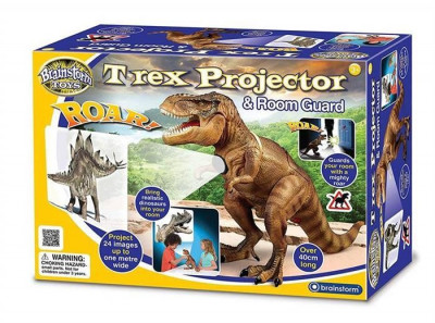 Jucarie Ex Display Brainstorm Toys T Rex Projector And Room Guard foto