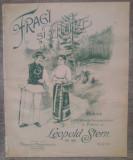 Fragi si mure// versuri M. Radulescu-Niger, muzica Leopold Stern, lito!