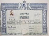 DIPLOMA DE BACALAUREAT 'CAROL II' - SIBIU, 1933