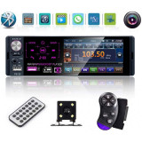"Cumpara ieftin Radio Auto MP5 PLAYER Techstar® 110C SMART 1DIN, cu Display 4.1"", Bluetooth, Comenzi pe Volan, Camera Marsarier si Microfon"