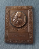 Placheta Dimitrie Cantemir - 1973 - Brasov - Expozitie filatelica - medalie