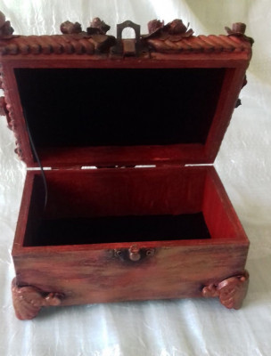 Casetă pentru bijuterii 15,5x10,5 cm foto
