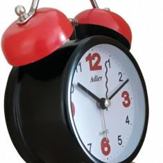 Ceas desteptator Adler 7146-B Rosu-Negru 9.5x13.5 cm
