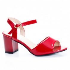 Sandale Garbis rosii cu toc -rl