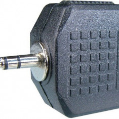 Adaptor jack tata 2,5 mm stereo - 2 x jack 3,5 mm stereo - 126632