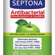 Servetele Umede Antibacteriene Septona cu alcool 20%, aroma Mar, 15 Buc