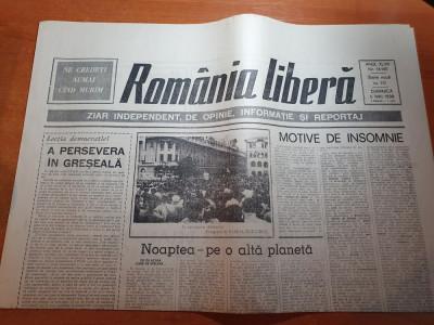 romania libera 6 mai 1990- iliescu despre evenimentele din piata universitatii foto