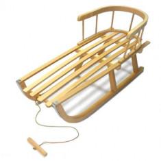 Sanie de lemn pentru copii cu spatar