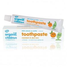 Pasta de dinti cu mandarine pt. bebelusi, homeopata, Green People