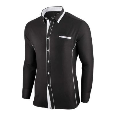 Camasa pentru barbati, neagra, slim fit - Allee de Longchamp foto