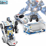 Cumpara ieftin PROMOTIE! SUPER ROBOT TRANSFORMERS MASINA POLITIE,CU TELECOMANDA,SUNETE,LUMINI., Plastic, Unisex