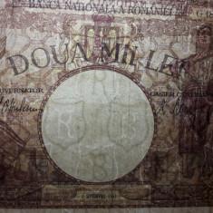 Bancnota ROMANIA 2000 LEI 1943 , Filigram BNR in Scut!