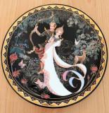 Farfurie - decorativa / de colectie - Thailanda - poleita cu aur 24k