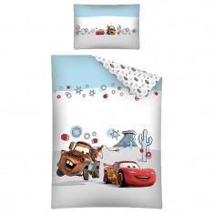 Set lenjerie de pat 2 piese 100 x 135 cm pentru copii Disney Cars 30 B DC, Multicolor