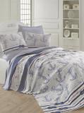 Cuvertura pentru pat single Eponj Home, 143EPJ5355, 160 x 235 cm, Albastru