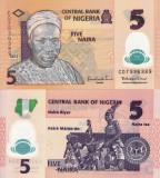 NIGERIA 5 naira 2013 polymer UNC!!!