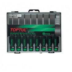 Set surubelnite precizie Torx Toptul 8 piese T5 T20
