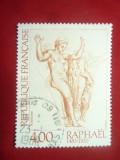Timbru -Pictura - Raphael -Nud 1983 Franta , 1 val. stampilata