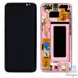 Display Cu Touchscreen si Rama Roz Pink Samsung S8 G950 Original Complet