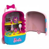 Troller Barbie cu doua roti si accesorii de frumusete