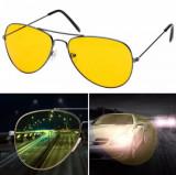 Ochelari de condus noaptea, Unisex, Rotunzi, Metal