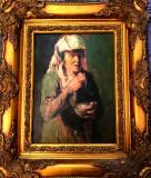 Portret de batrana - nesemnat, Portrete, Ulei, Altul