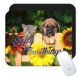 Pisica de caine și floarea-soarelui din sud : Cadou Mouse pad : Bucurați-va de Little Things Pet, Generic