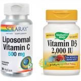 Liposomal Vitamin C 500mg 30cps + Vitamina D3 2000ui (Adulti) 30cps Pachet 1+1