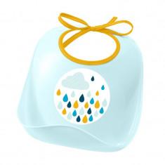 Baveta plastic moale Beaba, 6 luni+, bleu