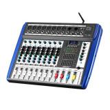 Mixer profesional neamplificat Vlliodor, USB, 8 canale, efecte