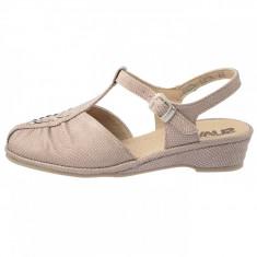 Sandale dama, din piele naturala, marca Suave, SU-0042T-18-03-31, bej , marime: 36