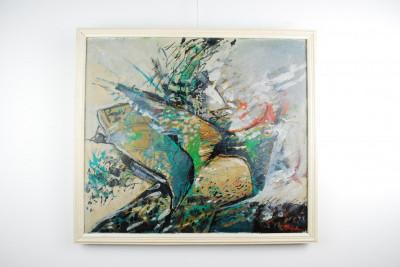 Tablou pictura Traian Mocanu n.1953 - Aripi - ulei panza foto