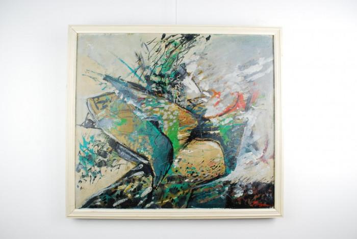 Tablou pictura Traian Mocanu n.1953 - Aripi - ulei panza
