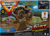 Set camioneta Soldier Fortune cu nisip kinetic si accesorii cu rampa Monster Jam, Spin Master