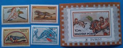 UNGARIA -1978-Ziua Marci-Mozaicuri panonice- Seria+ Colita-MNH(Mi.-20e) foto