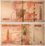 20000 shillings/ silingi, 2013 Uganda