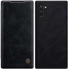 Husa telefon Flip Book Samsung Galaxy Note 10 n970 Black Qin Leather Nilkin