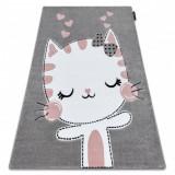 Covor PETIT KITTY pisică gri, 240x330 cm