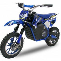 Mini Motocicleta electrica Eco Jackal 1000W Jackal 10 inch Albastru