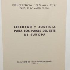 ROMANIA EXIL 1961 - CARNET FILATELIC MISCAREA LEGIONARA - PRO AMNISTIA