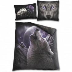 Set lenjerie de pat din bumbac Suflet de lup 200x200 cm
