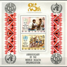 DOMINICA 1973  UPU , CRACIUN , ANIVERSARI 5 COLITE DIVERSE NESTAMPILATE, Nestampilat
