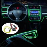 Cumpara ieftin Banda LED Auto De Interior, Verde + Droser 12V, 2 Metri