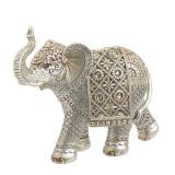 Elefant din rasina Silver Gold 22cm x 8cm x 19cm