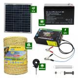 Pachet gard electric cu Panou solar 2,5J putere și 1000m Fir 160Kg