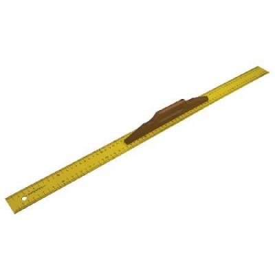 Rigla metalica cu scala metrica si maner lemn 800mm foto